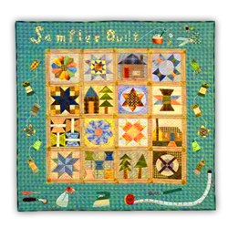 Last Ones!  Sewing Room Sampler Colorful Quilt Kit - Includes Backing