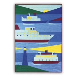 New - Ships Ahoy!  Child Quilt Kit
