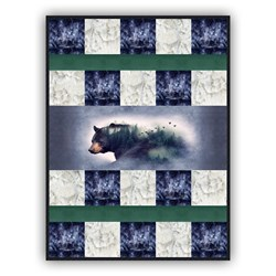 Exclusive Silent Bear Morning Deluxe Minky Quilt Kit - Shannon Fabrics - Includes Backing!