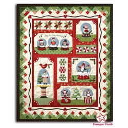 Back in Stock!  Snow Globe Village Quilt Kit