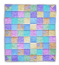 Back in Stock!  Breezy Spring  Snuggler!  Lap Size Pastel Quilt<br><i>Includes Backing!</i>