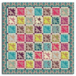 From the Quilternator - April Fools Fun!  Star Kissed Garden Lap & Queen Size Quilt Pattern Download