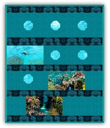 Exclusive Gorgeous Submarine Fantasy Minky Quilt Kit - Shannon Fabrics - Includes Backing!
