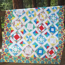 Sweet Summertime Sampler Complete Embroidery Quilt Kit & Set<br><i>Free US Shipping!</i>
