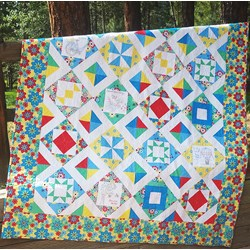 More Back in Stock!  Sweet Summertime Sampler Complete Embroidery Quilt  Kit & Thread  Set