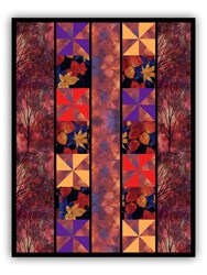 Exclusive Sunset Forest Quilt Kit - Includes Backing  - A Quick & Easy Design!