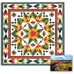 New Batik Fabrics!  Taos Block of the Month OR All at Once Queen/King Size  Quilt Now in Batik Fabrics!Start Any Time!