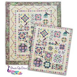 More Back in Stock!  Twilight Song Sampler Block of the Month or All at Once - Queen Size. Start Anytime!