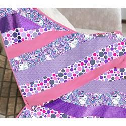 New!  Exclusive Unicorns & Bubbles Minky Quilt Kit!