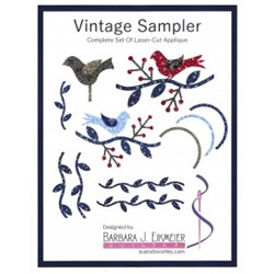 Vintage Sampler Coordinating Laser Cut Pre-Fused Applique Pieces Pack