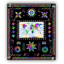 The Wanderer All-Inclusive Quilt Kit - Black Background