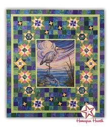 Water Reflections Crane Block of the Month by Ira Kennedy -Start Anytime