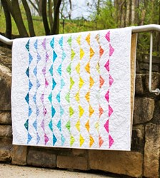 Waves Batik Quilt Pattern by Cut Loose Press With Optional Kit