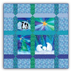 Winter Lights Lap Size Quilt Kit - Includes Backing