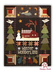 Winter Wonderland Wool Applique - Coordinating Flannel Backing