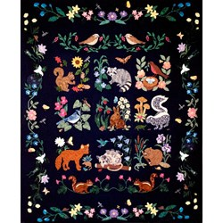 Rare Find!  Woodland Creatures Laser Cut Quilt Kit