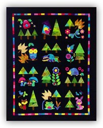 New!  Adorable Woodland Critters BATIK Applique Block of the Month or All at Once!  Start Anytime!