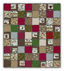 "Our Exclusive Woodland Haven Flannel Snuggler ""Rag"" Quilt<br>Includes Backing!"