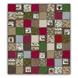 "Our Exclusive Woodland Haven Flannel Snuggler ""Rag"" QuiltIncludes Backing!"