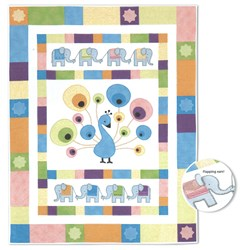 More Back in Stock!  Baby Peacock Quilt