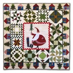 LAST ONE!  Santa's Village Flannel Quilt Kit