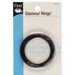 Polished Silver Glamour Rings (2 count)