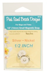 Small Magnetic Purse Snap - Silver Nickel 1/2in (14mm)