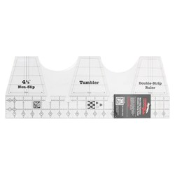 Creative Grids Double-Strip Tumbler Quilt Ruler