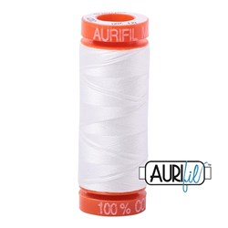 Aurifil Cotton Mako Thread 50 Weight Ivory Mini Spool