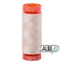 Aurifil Cotton Mako Thread 50 Weight Light Beige  Mini Spool