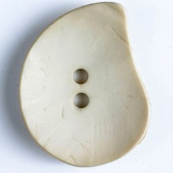 Large 2 Hole  50mm Beige Tear Drop Button