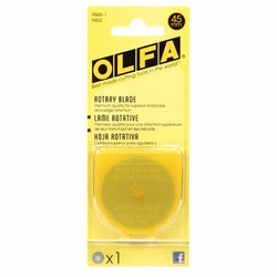 OLfa 45mm Rotary Blade - Count/1 Replacement Blade