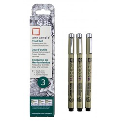 Zentangle Pigma Micron - 3 Piece Tool Set