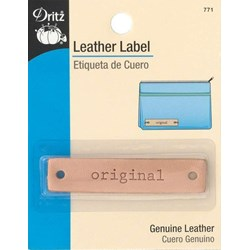 "Leather ""original""  Label (1 per pack)"