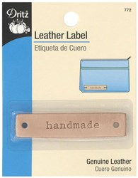 "Leather ""handmade""  Label (1 per pack)"