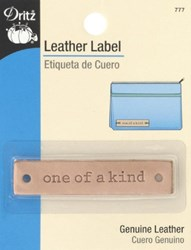 """Leather """"one of a kind""""  Label (1 per pack)"""