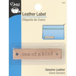 "Leather ""one of a kind""  Label (1 per pack)"