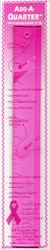 Add A-Quarter Ruler 1 1/2in x 12in Pink For Breast Cancer Awareness  - CM Designs