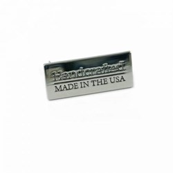 "Metal Bag  ""Handcrafted- Made in the USA"" Nickel Label (1 per pack)"