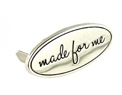"Metal Bag  ""made for Me"" NIckel Label (1 per pack)"
