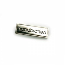 "Metal Bag ""handcrafted"" Nickel Label (1 per pack)"