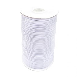 White Flat Elastic - 1/4in by 200 yards - By the Yard