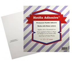 Hotfix Fabric to Fabric Adhesive - 12in x 12in 6 pack