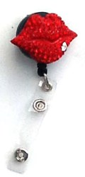 Red Hot Lips Bling Clip