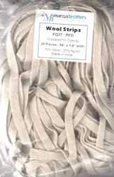 <i>Last One - Vintage Find!   </i>Wool Strips by Marcus Brothers - Prepared for Dying