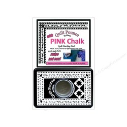 Quilt Pounce with Pink Chalk