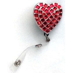 Red Heart Bling Clip