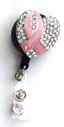 Pink Ribbon Bling Clip