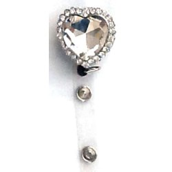 Silver Heart Bling Clip