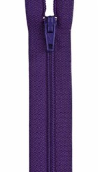 All-Purpose Polyester Coil Zipper 16in Purple